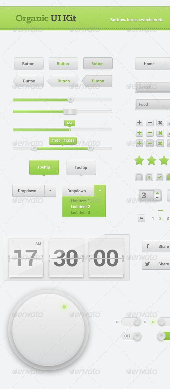 GraphicRiver Organic UI Kit 5128090