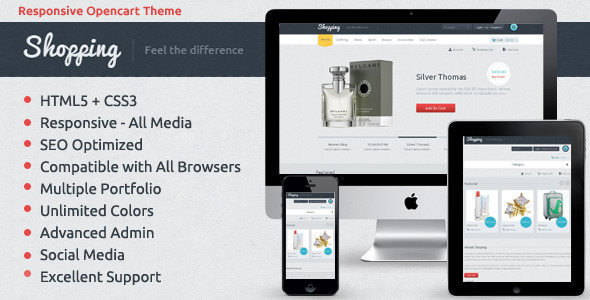 ThemeForest Shopping OpenCart Responsive Theme 5123035