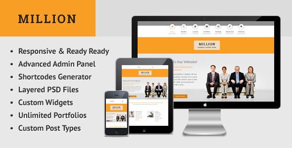 ThemeForest Million Retina Responsive Multipurpose WP Theme 5120753