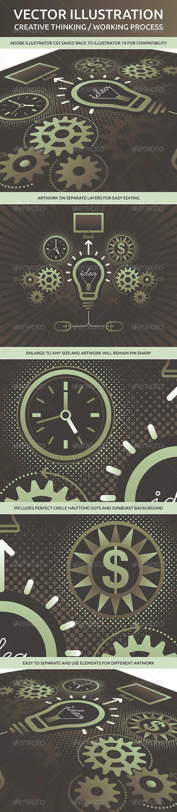 GraphicRiver Creative Thinking and Working Process 5128277