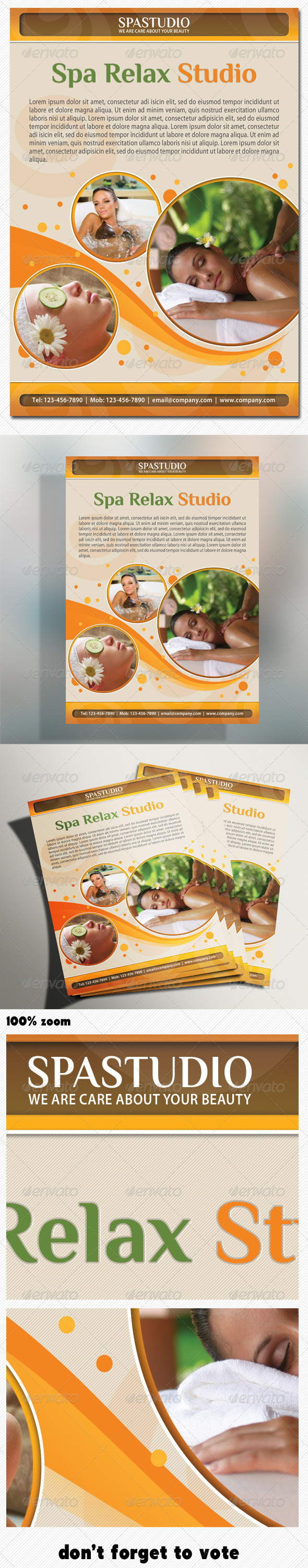 Spa Studio Flyer - Commerce Flyers