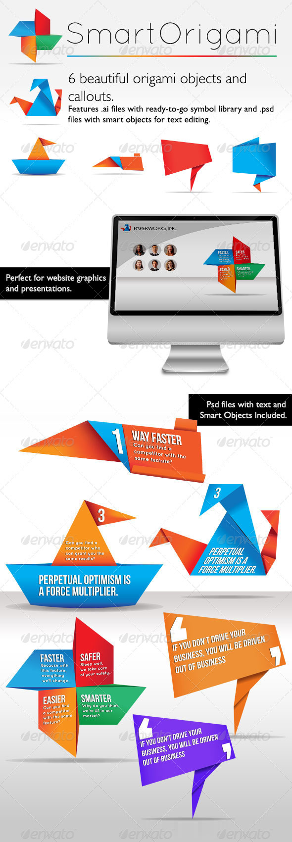 GraphicRiver Smart Origami Symbols 5122955