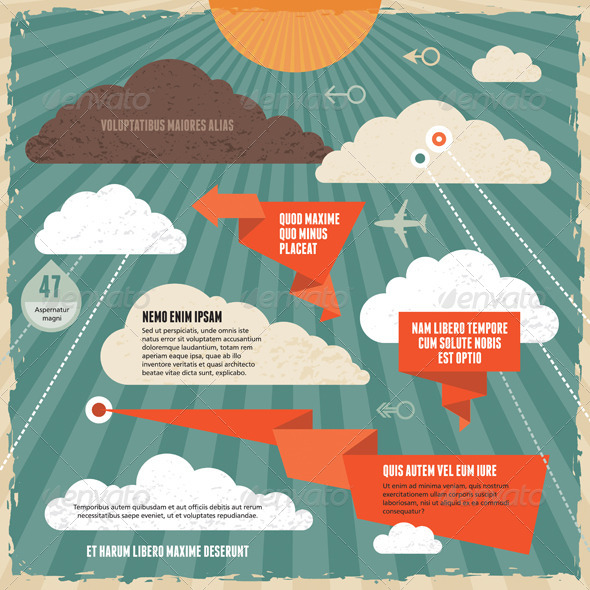 GraphicRiver Clouds Vintage Background Concept 5123817