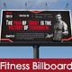 Fitness Gym Billboard - GraphicRiver Item for Sale