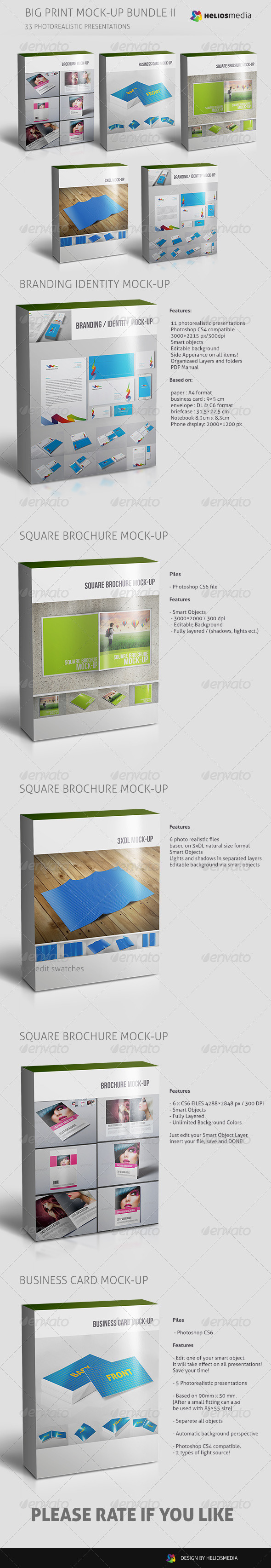 GraphicRiver Big Print Mock-up Bundle II 5128578