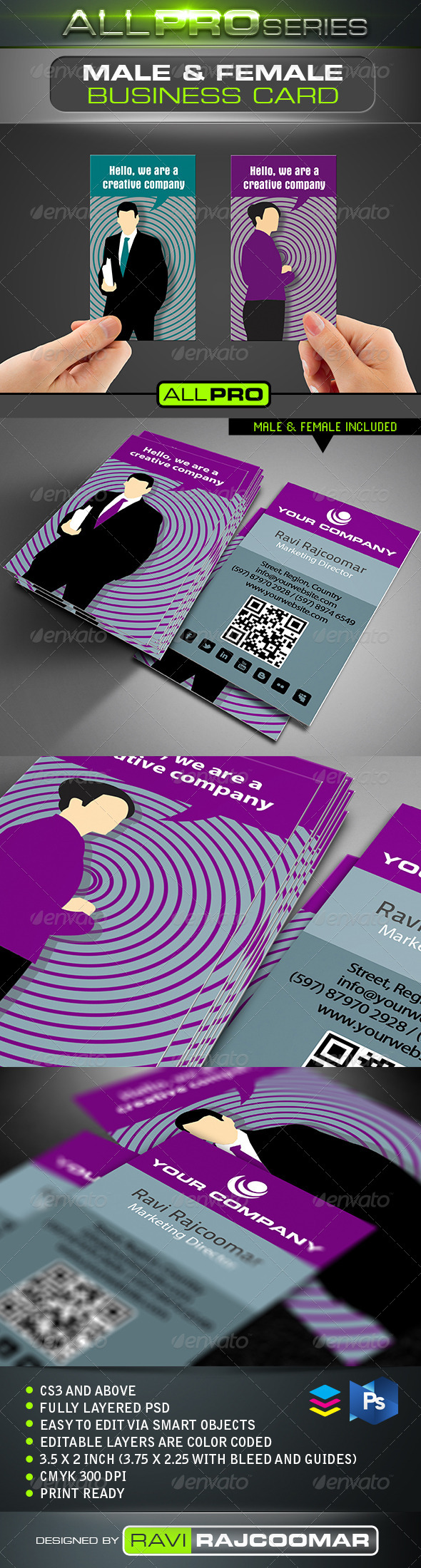 Male & Female Business Card