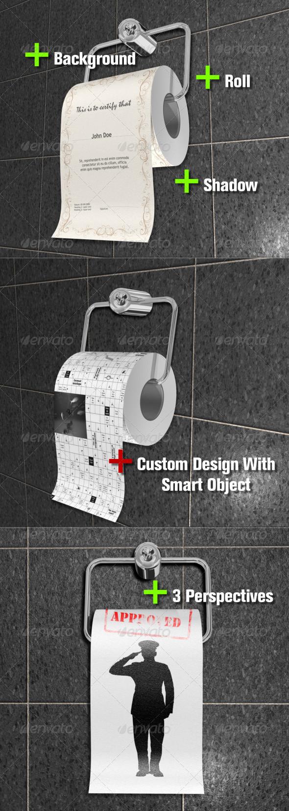 GraphicRiver Fun Bog Toilet Paper 5124859