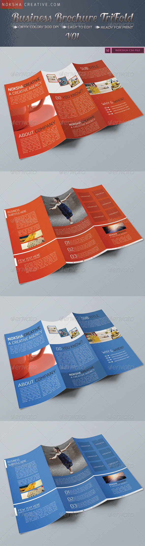 Business Tri Fold Brochure - Brochures Print Templates
