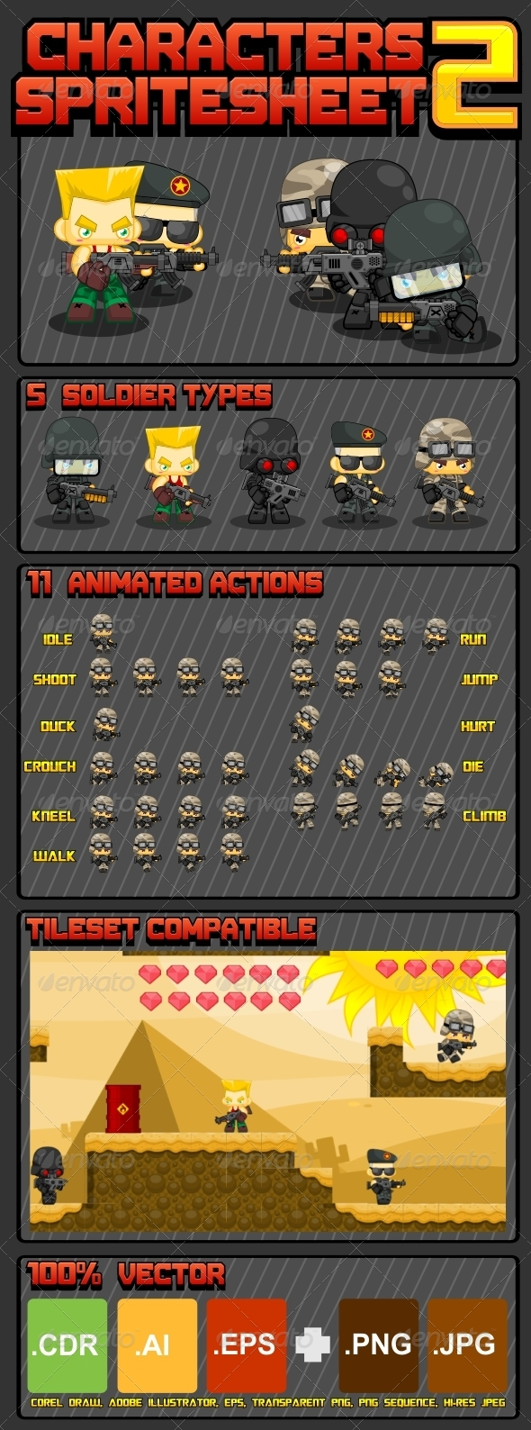 GraphicRiver Characters Spritesheet 5129018