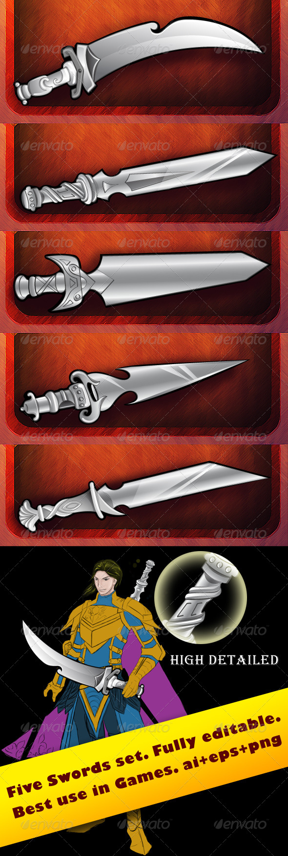 GraphicRiver Swords for Game Weapons 5125362