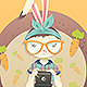 Hipster_bunny