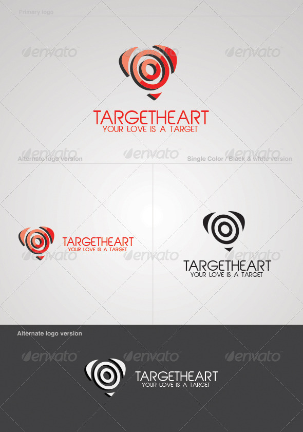 GraphicRiver Target Heart Logo Template 3892284