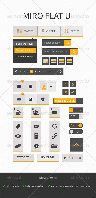 Miro UI - User Interfaces Web Elements