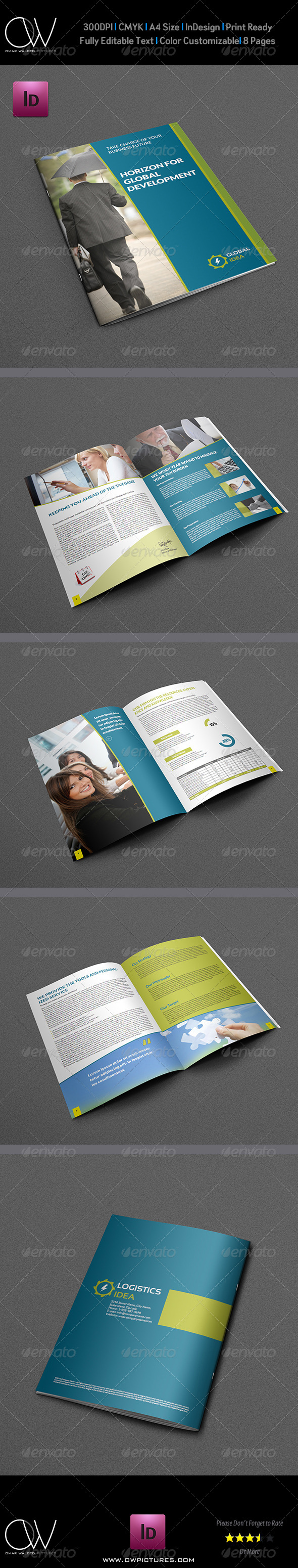 Corporate Brochure Template 8 Pages