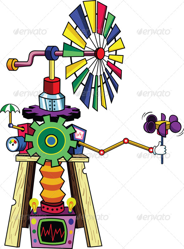GraphicRiver Cartoon Windmill 5129595