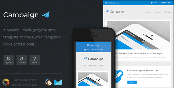 ThemeForest Campaigner Responsive Email Template 5129672