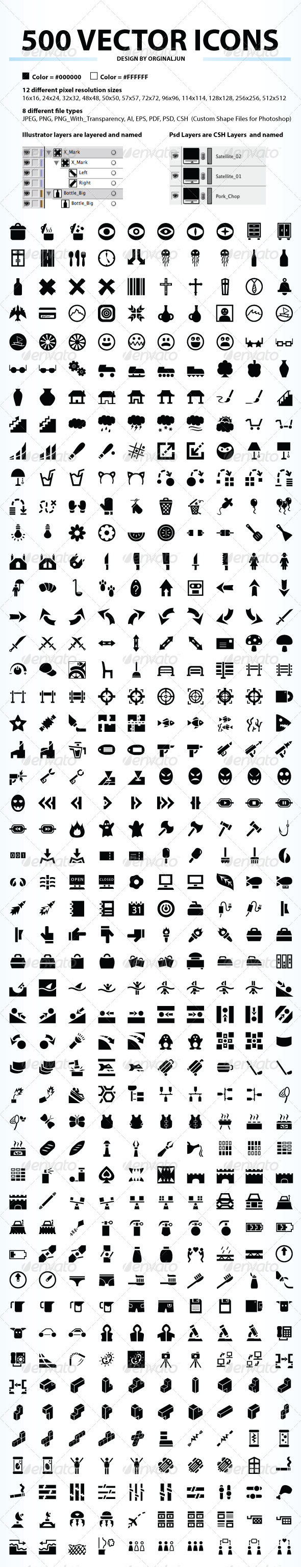 GraphicRiver 500 Vector Icons 5129804