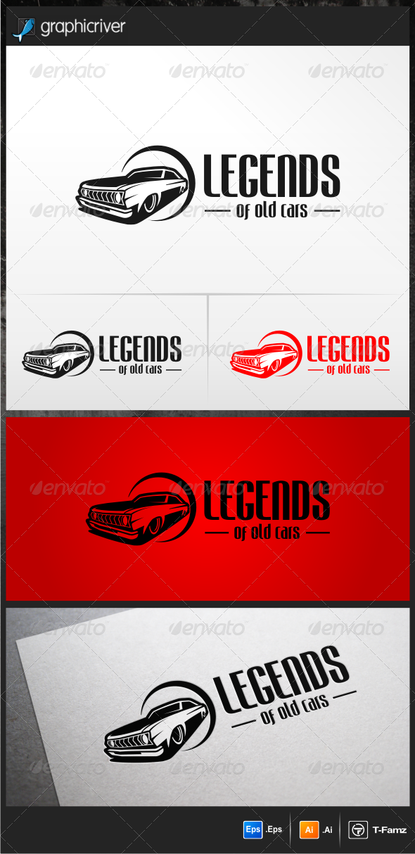 Legends of Old Cars Logo Templates
