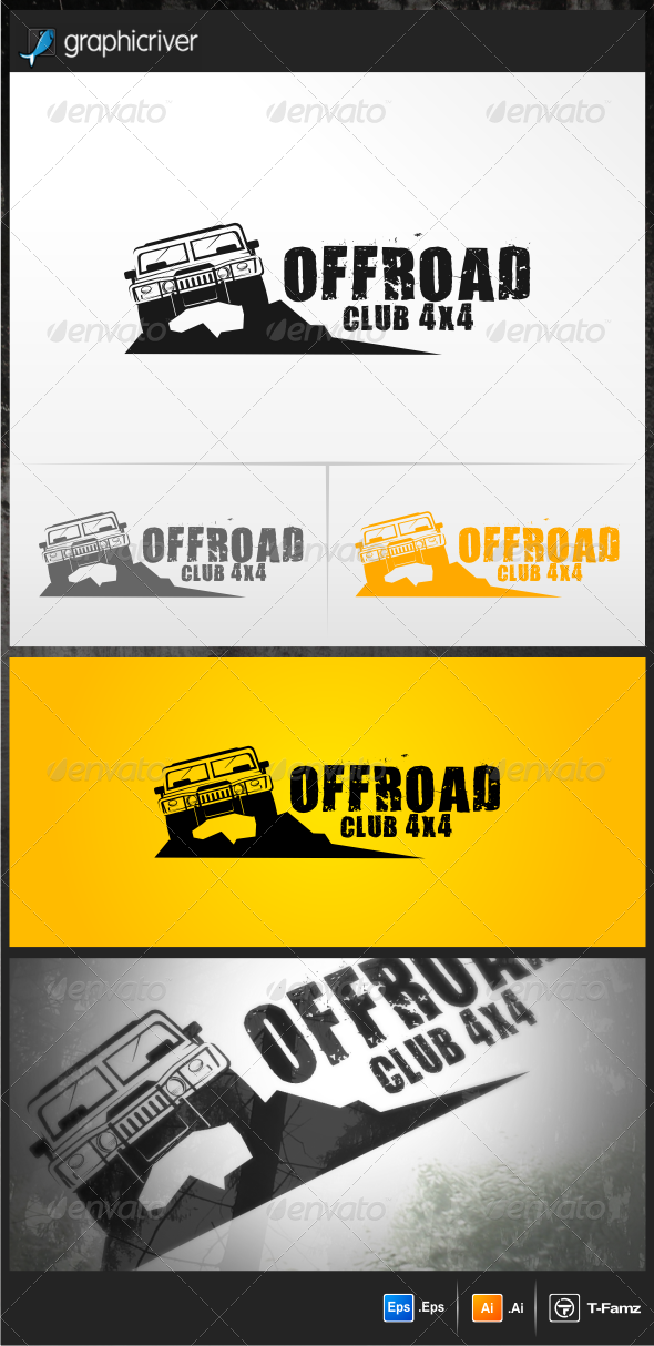 Offroad Club 4x4 Logo Templates