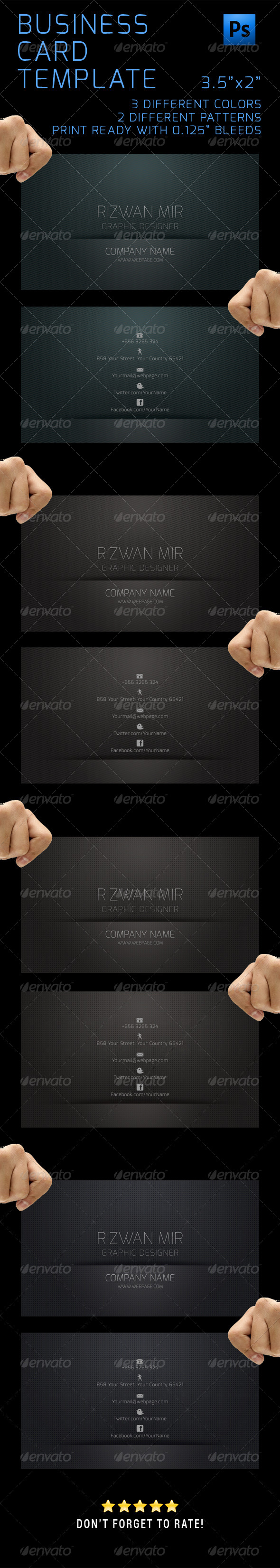 GraphicRiver Business Cards Design Template 5075121