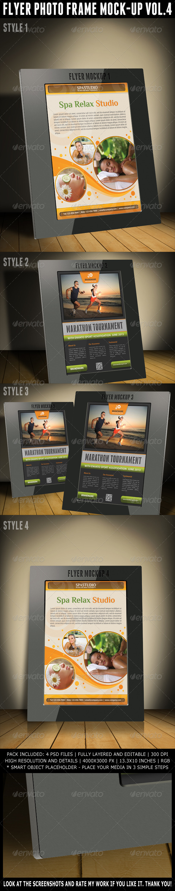 GraphicRiver Flyer Photo Frame Mock-Up Vol.4 5130104