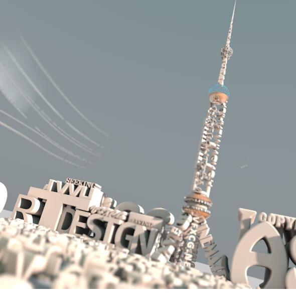 3DOcean The Text Bluiding Desgin Of TV Tower 5130197