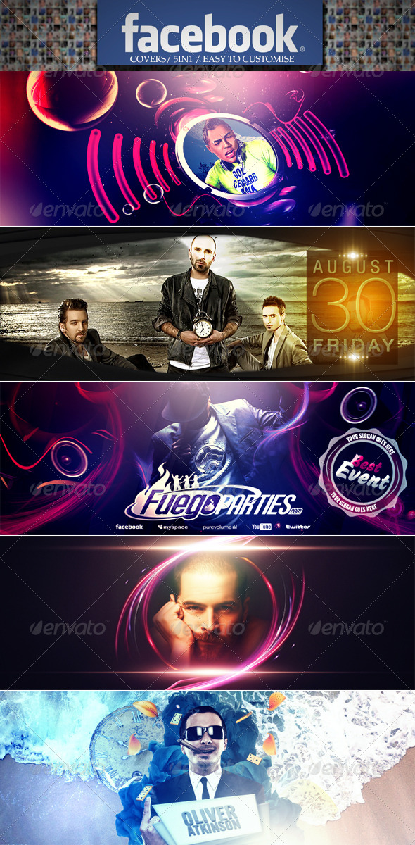 GraphicRiver Must Have Fb Timeline Covers 5in1 5130241