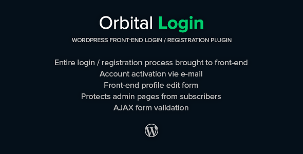 Orbital Login - Login / Register WordPress Plugin - WorldWideScripts.net Item for Sale