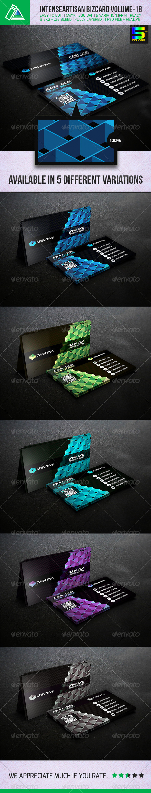 GraphicRiver IntenseArtisan Creative Business Card Vol-18 5130469