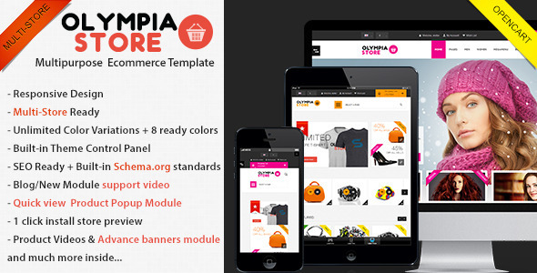 ThemeForest Olympia Premium Multi-Purpose Opencart Theme 5130614