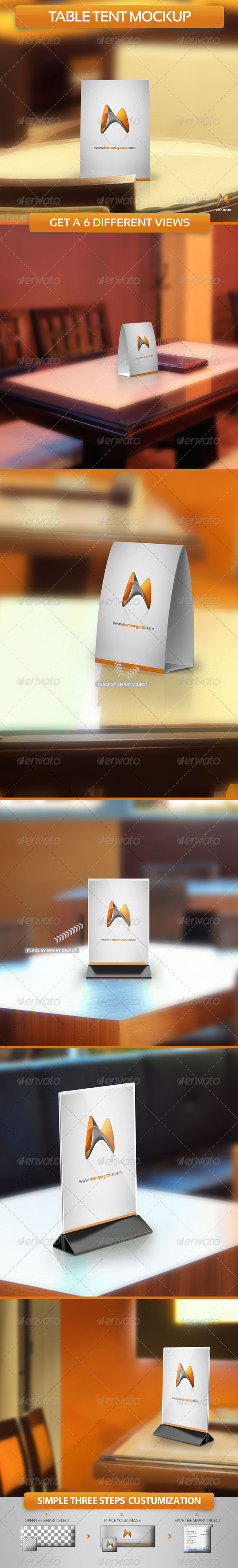 GraphicRiver Table Tent Mockup 5131015