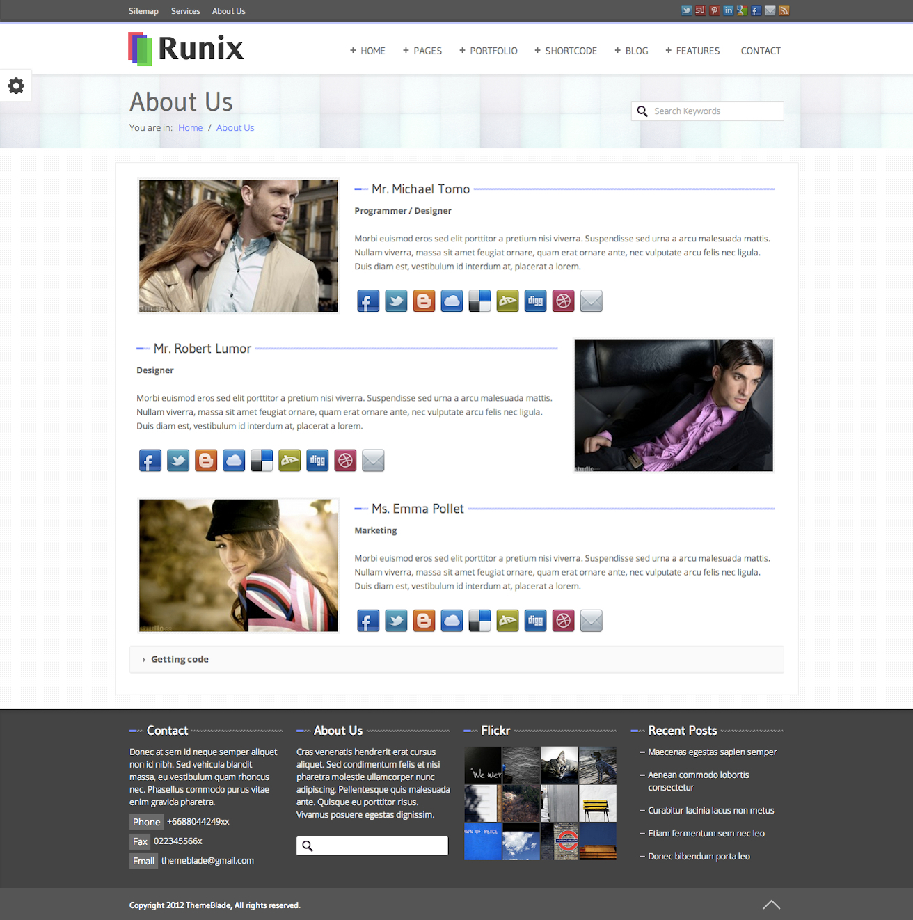 Runix - Business Responsive Wordpress Theme