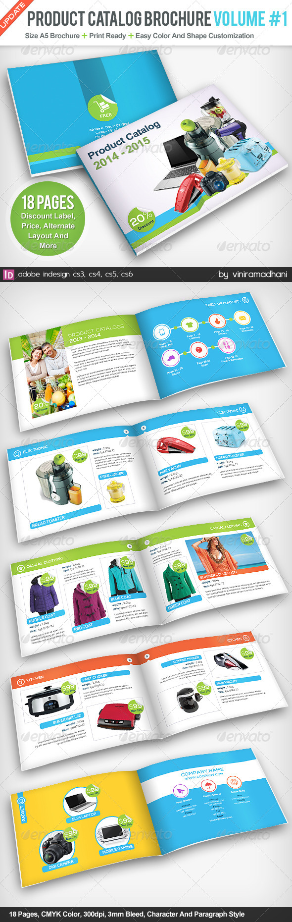GraphicRiver Product Catalogs Brochure Volume 1 5131373