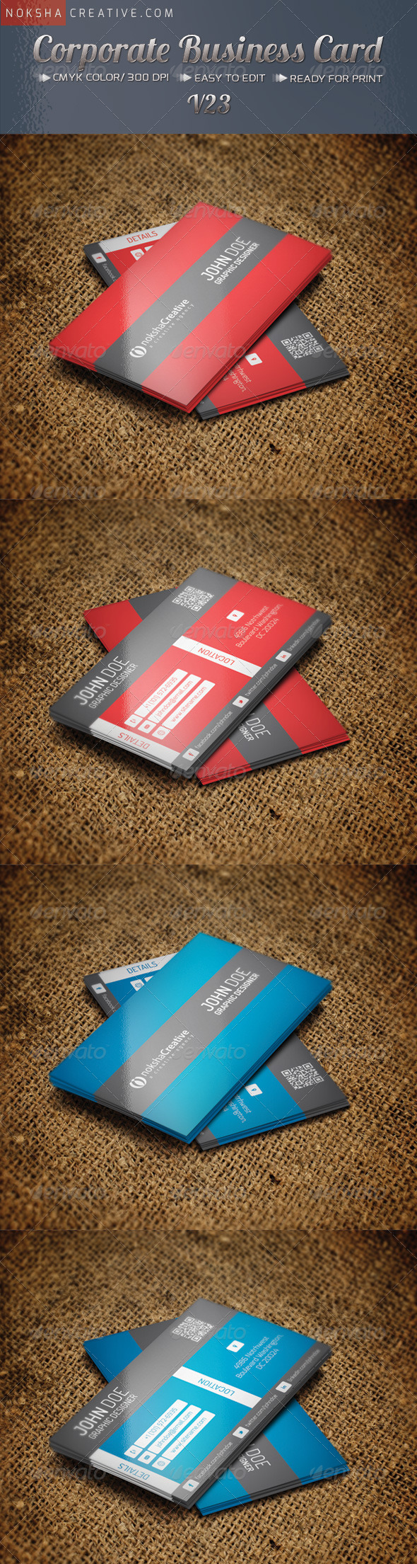 GraphicRiver Corporate Business Card v-23 5068479
