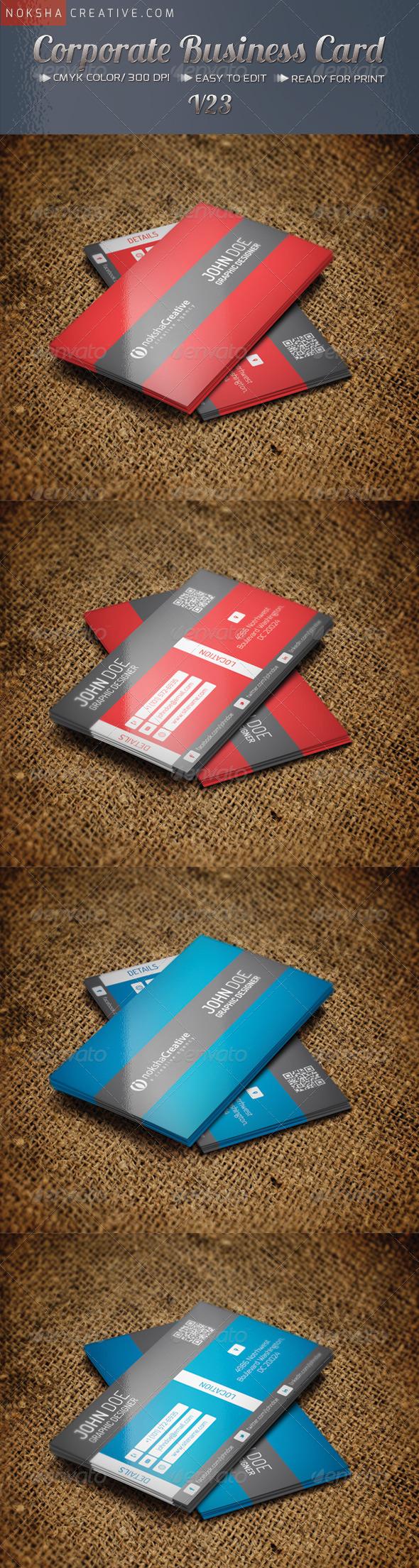 Corporate Business Card v-23 - Corporate Business Cards