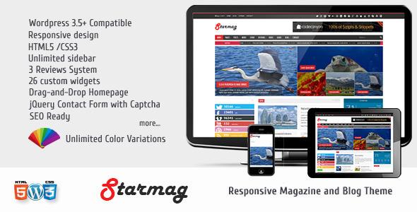 ThemeForest StarMag News & Magazine Theme 5131826