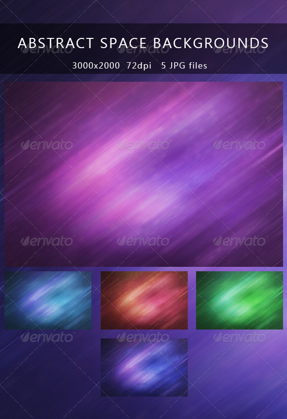 GraphicRiver Abstract space backgrounds 5131986