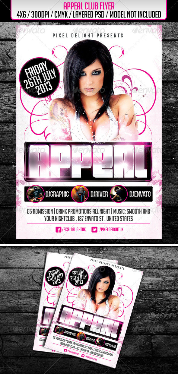 Appeal Club Flyer - Clubs & Parties Events