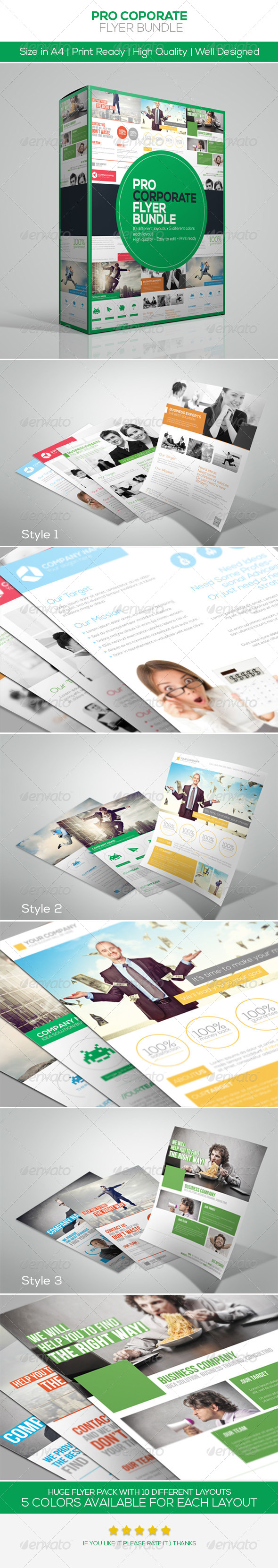 GraphicRiver Corporate Flyer Bundle 5132662
