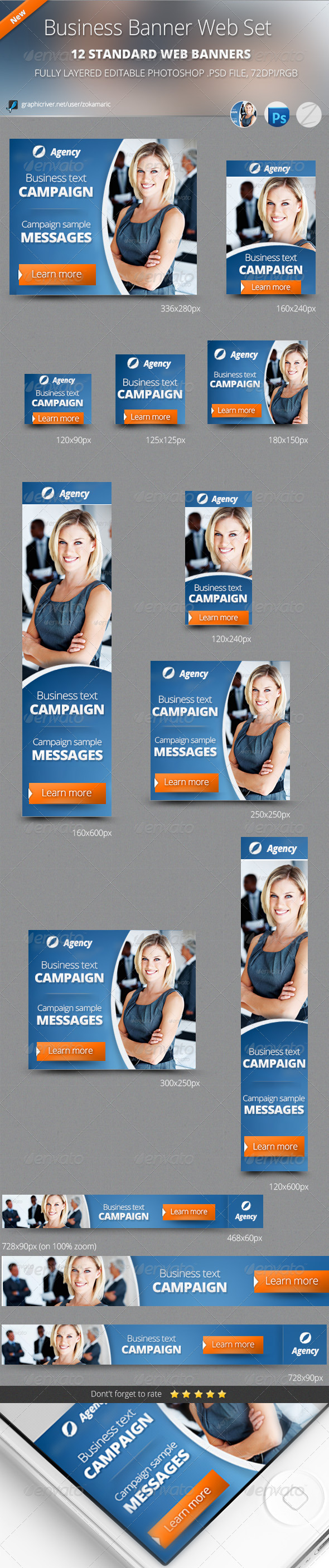GraphicRiver Business Banner Web Set 5132669