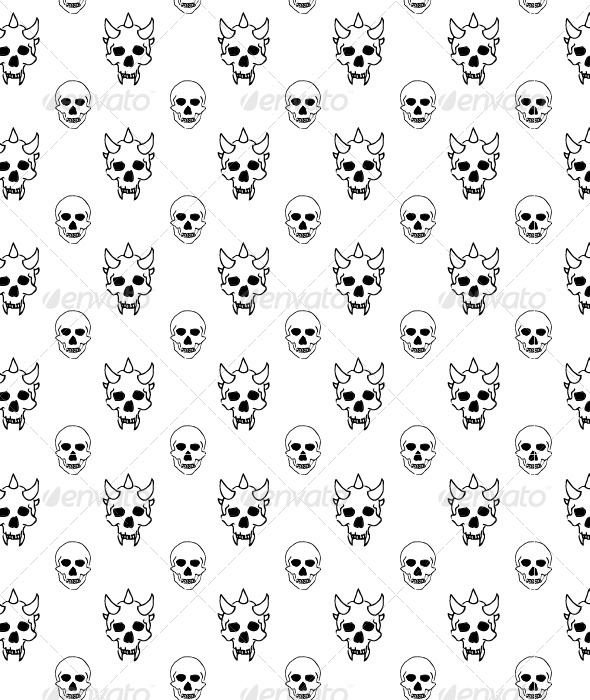 GraphicRiver Seamless Skulls Pattern 5132741