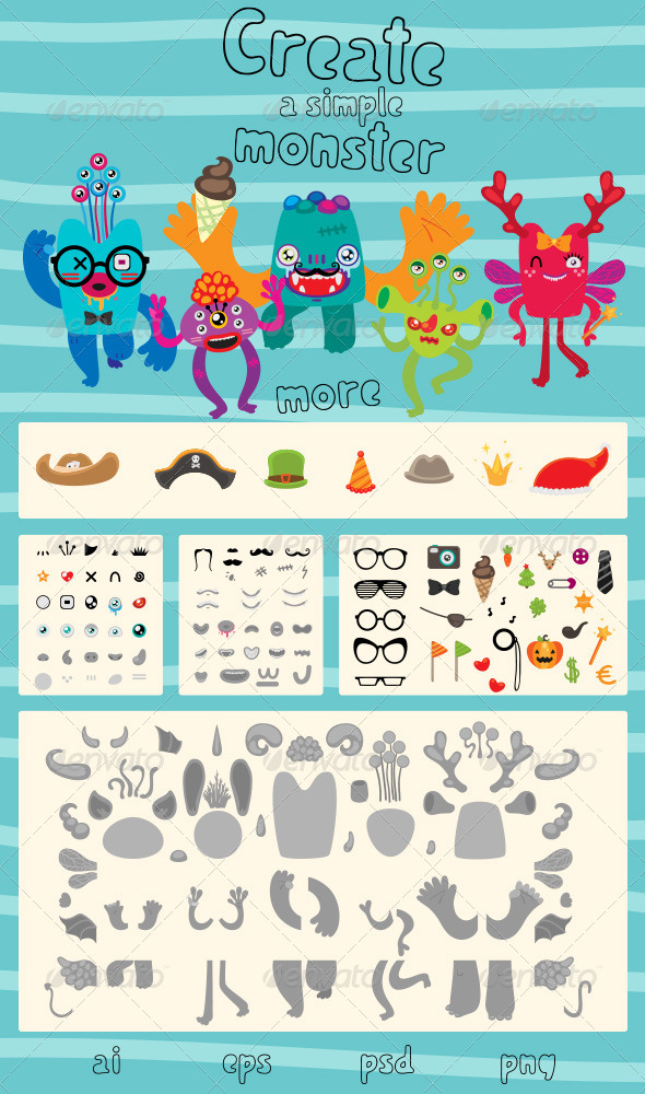 GraphicRiver Create a Simple Monster 5132782