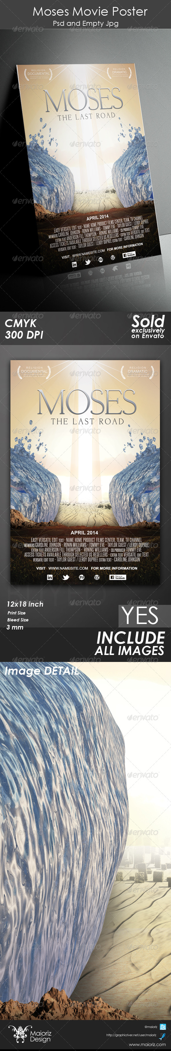 GraphicRiver Moses Poster Template 5132881