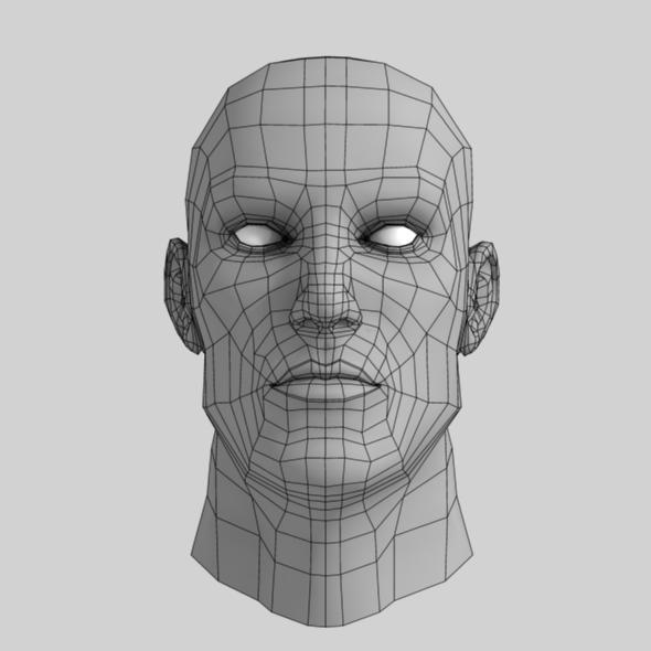 Male Head Base Mesh - 3DOcean Item for Sale