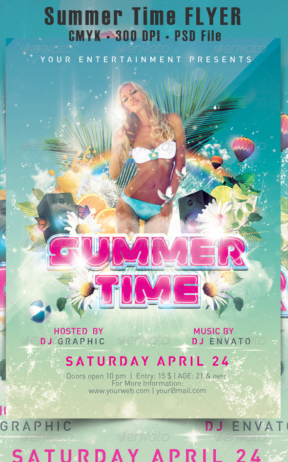 GraphicRiver Summer Time Flyer 5078668