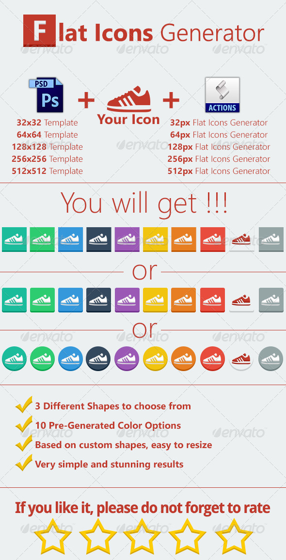 GraphicRiver Flat Icons Generator 5133229