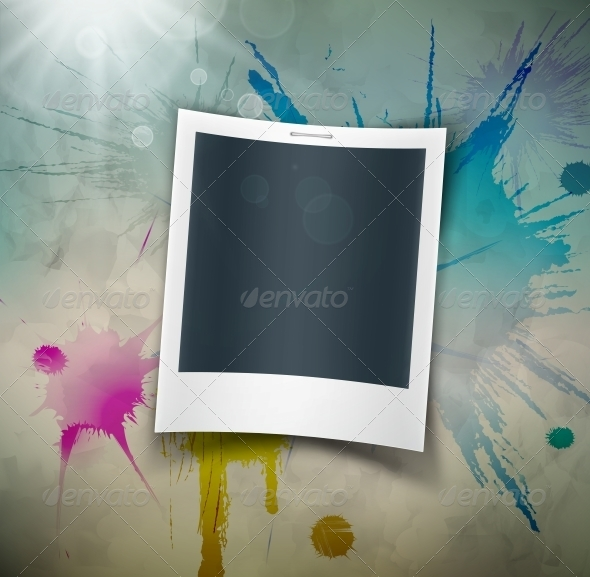 GraphicRiver Photo on Grunge Background 5133414