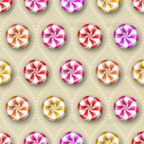 GraphicRiver Seamless Background with Sweets 5133419