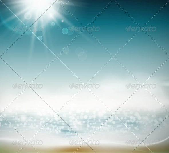 GraphicRiver Beach Background 5133425
