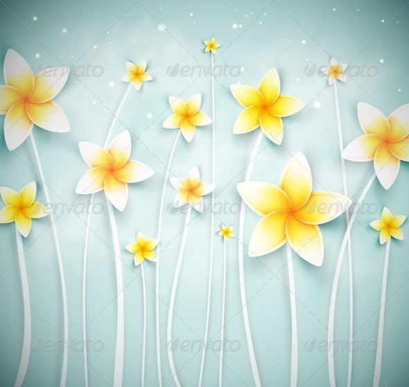 GraphicRiver Abstract Background with Flowers 5133465